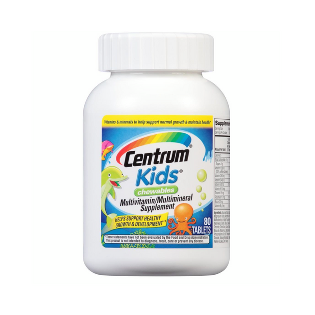 Centrum Kids Cewables Multivitamin/ Multimineral Supplemet 80 Tablets