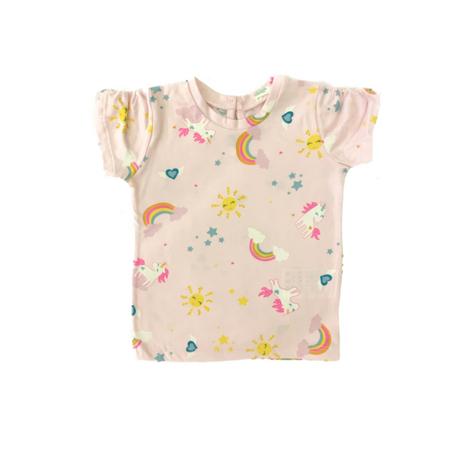 United Colors of Benetton- Rose Baby Girl Rainbow T-Shirt
