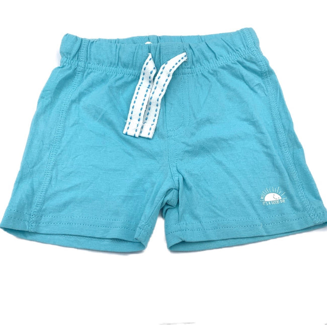 It's A Good Day Baby Blue Short 12M