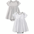 Moon and Back Baby Dress Grey
