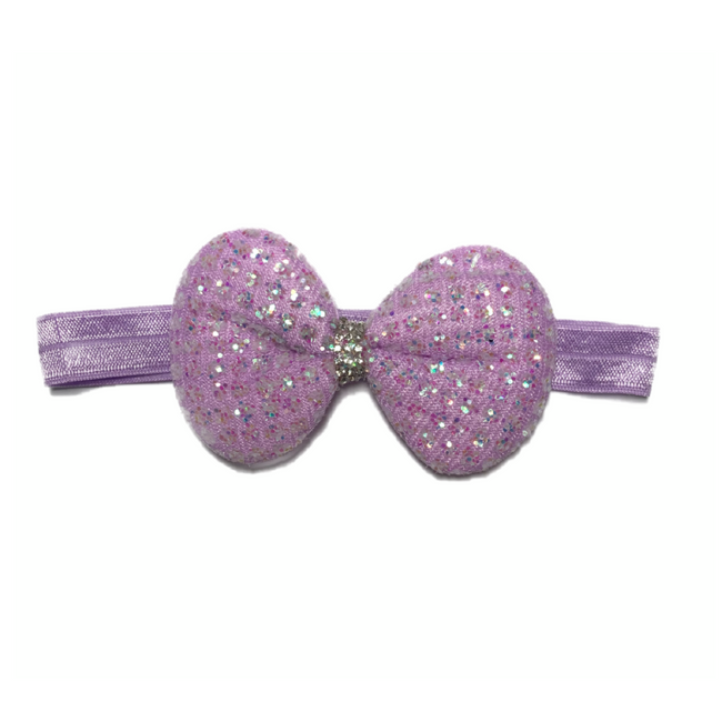 Glittery Bow Tie Hair Band