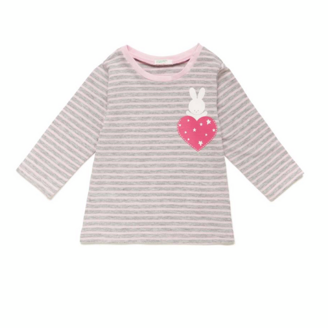 United Colors of Benetton T-Shirt Striped Rose