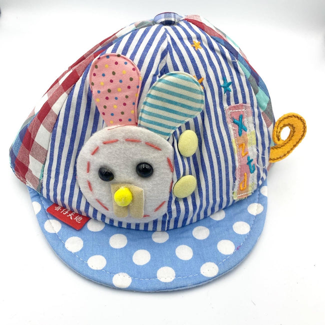 Little Bunny Cap Dotted Baby Blue