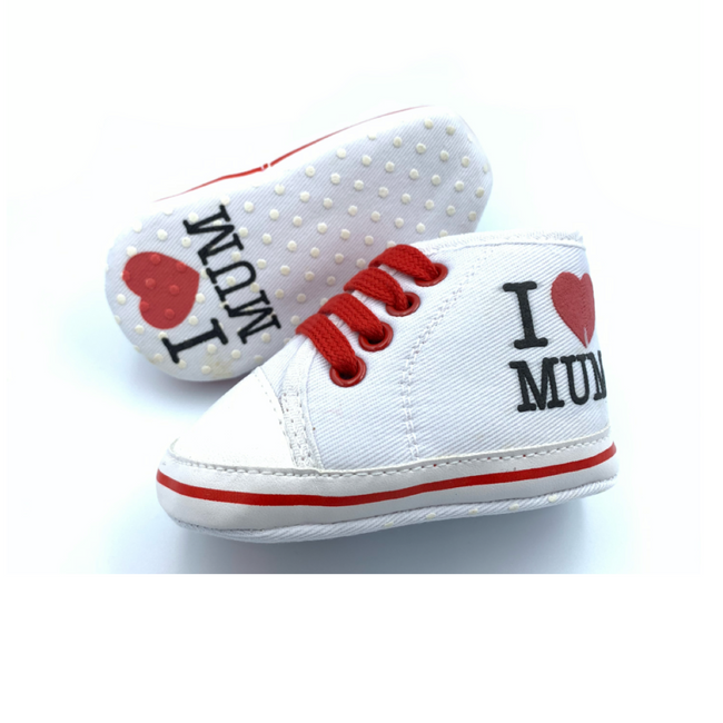 I Love Mum Baby Shoes (0-6M)