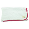 Burt's Bees Baby Blanket 100% Organic Cotton Swaddle & Stroller White/ Red