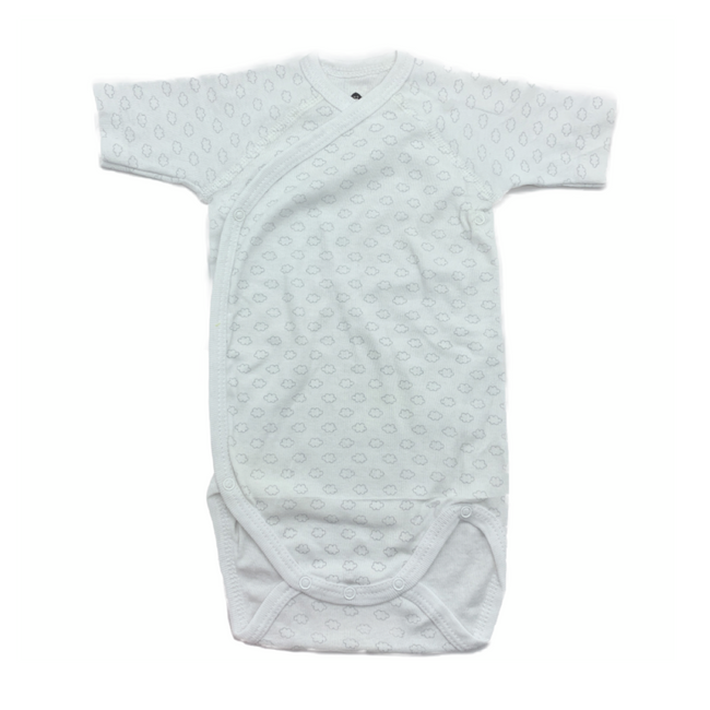 Z-Generation - Short Sleeve Bodysuit White/Grey 12M