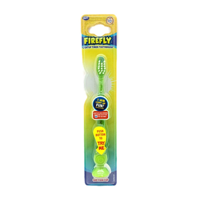 Firefly Light-up Timer Toothbrush with Suction Cup, 1-Count