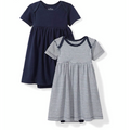 Moon and Back Baby Dress Dark Blue