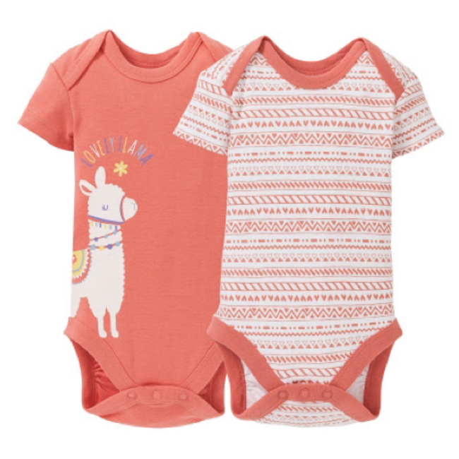 Lupilu Setx2 Short Sleeve Bodysuit Lovely Lama