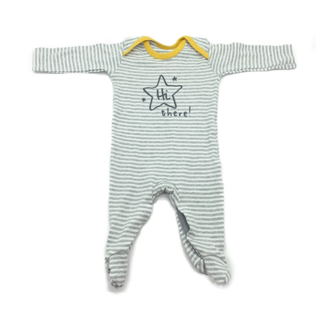 Matalan - Hi There Long Sleeve Bodysuit
