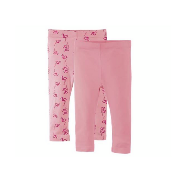 Set of 2 Leggings Flamingo/ Rose Lupilu 2-6 M