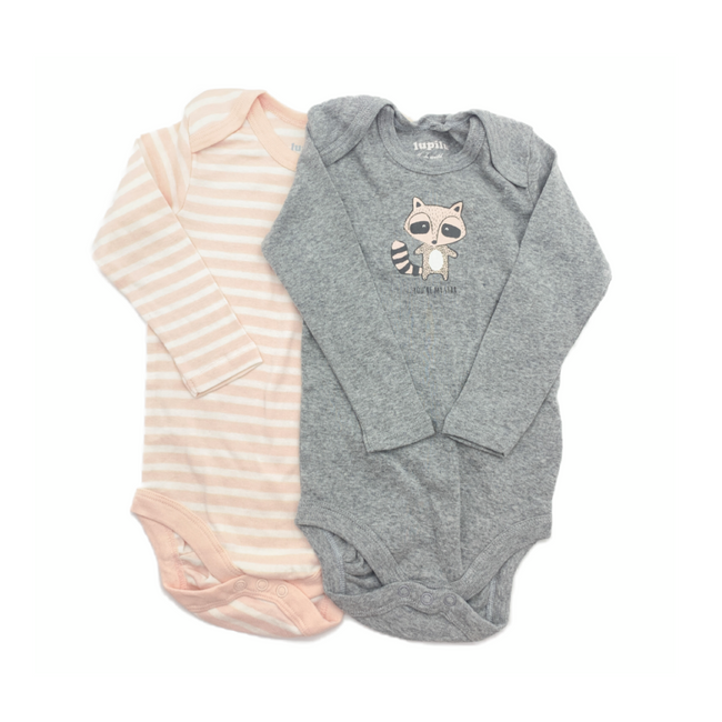 Lupilu Pack of 2 Long Sleeve Rose Fox