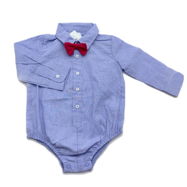 Idexe - Chemise Bodysuit & Red Bow Tie 3M