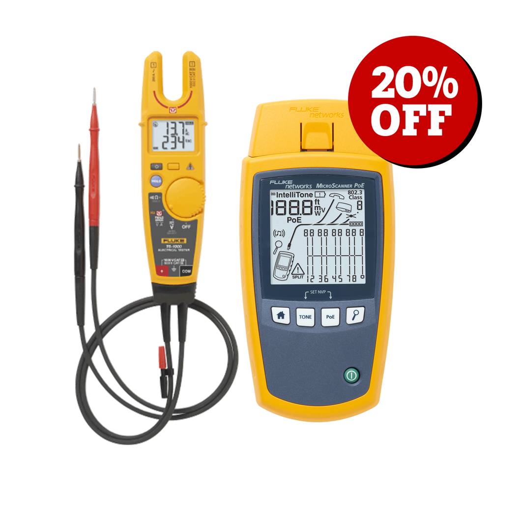 Black Friday FNET MicroScanner™ PoE Cable Verifier + T6-1000 Bundle