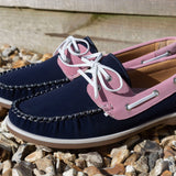 COOLERS Casual Pink/Navy Deck Shoe