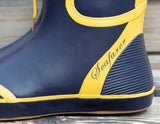 Seafarer Wellies - Navy with Yellow Trim and Toggle