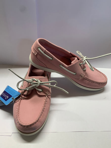 Pink Deck Shoe - With Laces CLEARANCE