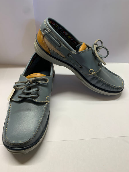 Blue/ Mustard Deck Shoe CLEARANCE