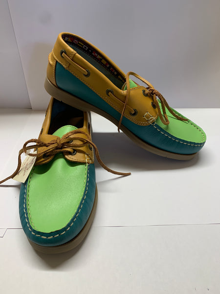 WINDWARD Deck Shoe - Blue, Lime, Camel CLEARANCE