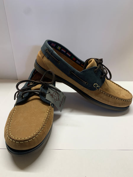 WINDWARD Camel/ Navy Deck Shoe CLEARANCE