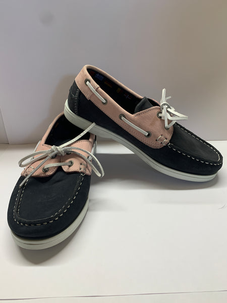 WINDWARD Navy/ Pink Deck Shoe CLEARANCE