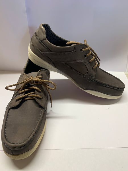 YACHTSMAN Grey Deck Shoe CLEARANCE