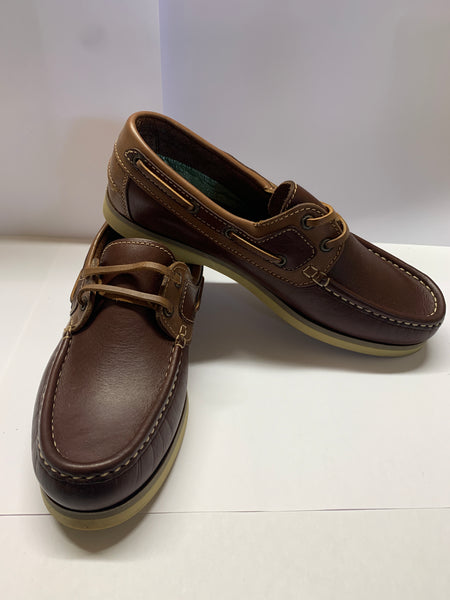 NAVIGATOR Brown/ Cognac Deck Shoe CLEARANCE
