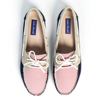 COOLERS Casual Pink/Navy/Beige Deck Shoe