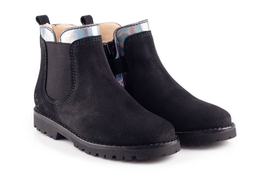 Black Suede Womens Booties