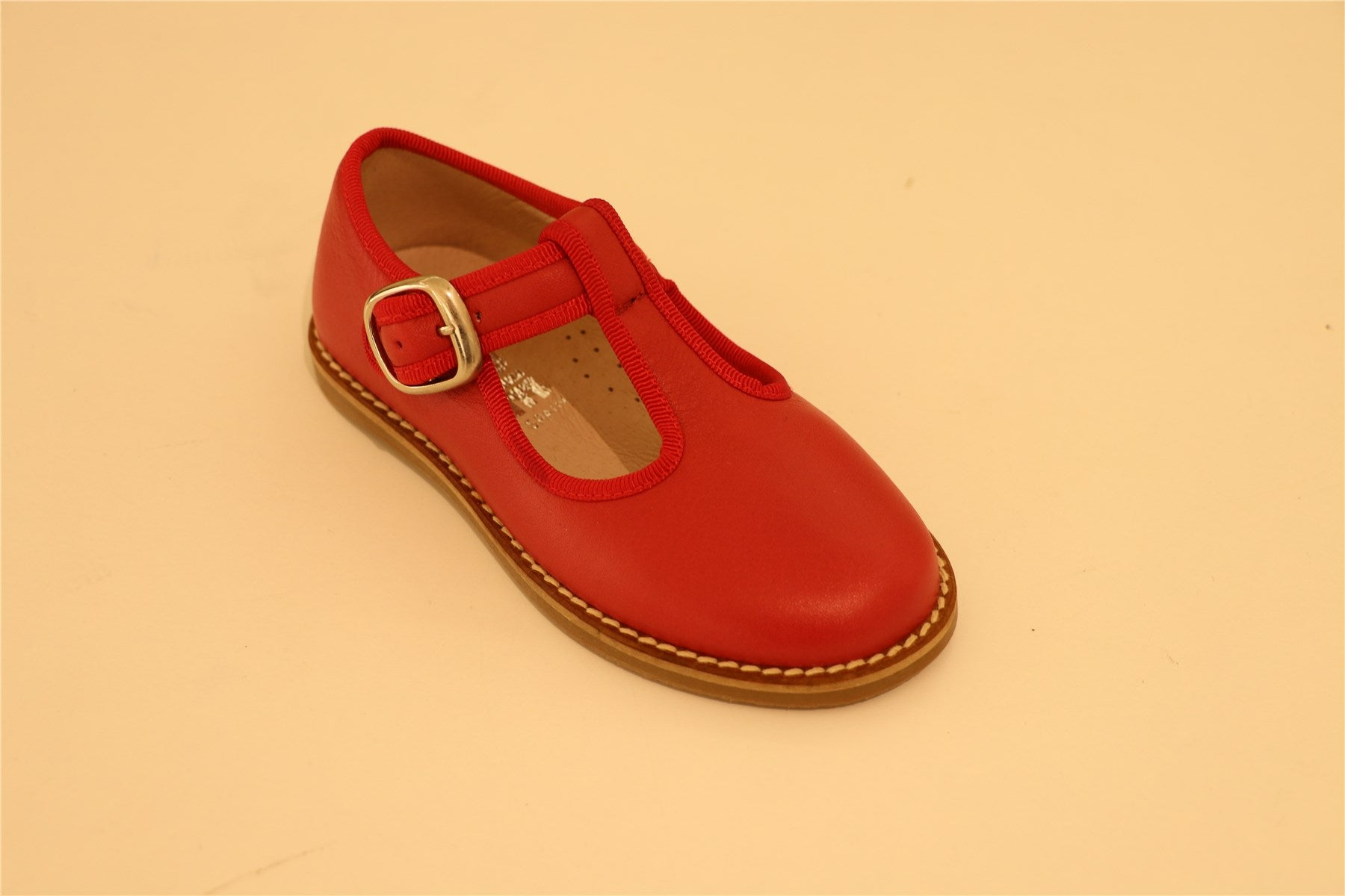 Red T Strap School Shoes