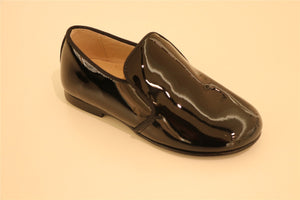 Black Patent-Leather Boy Loafer
