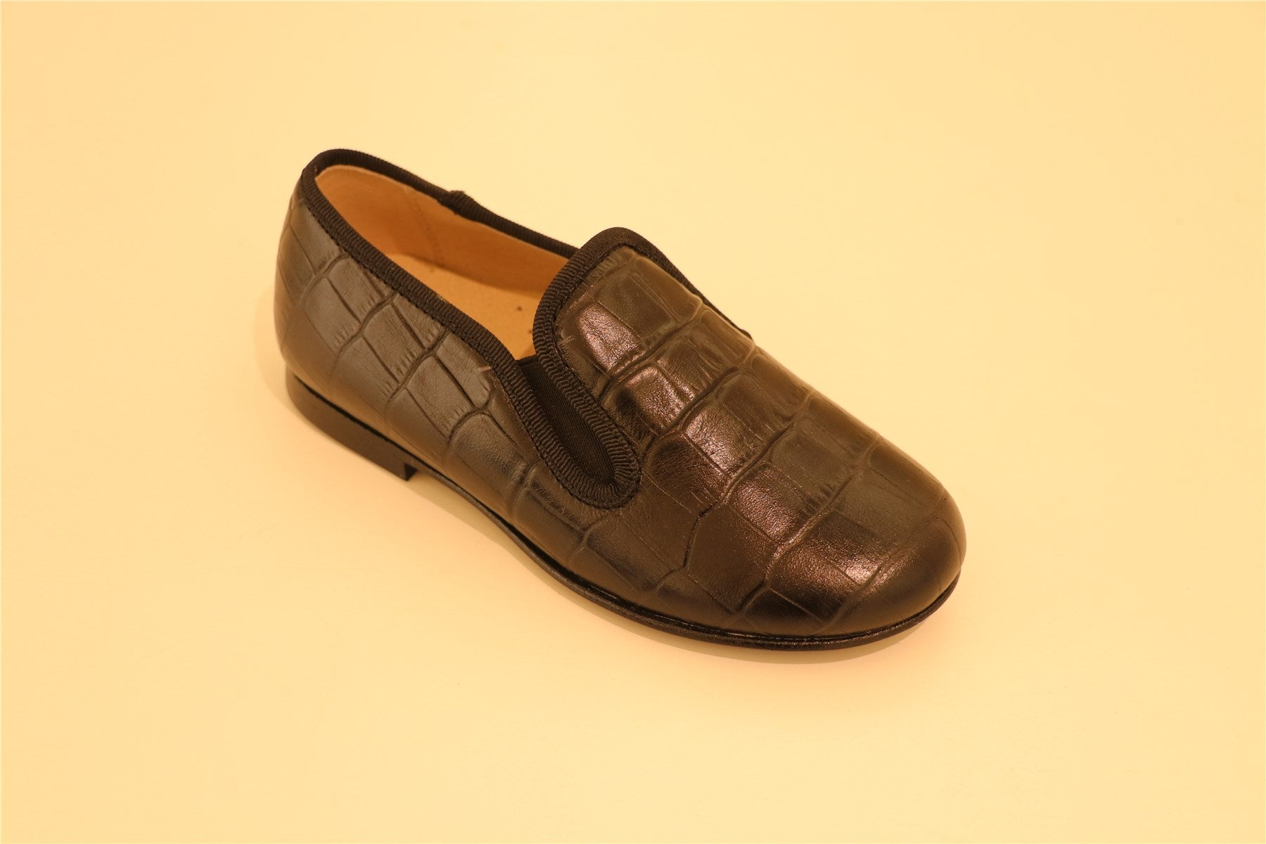 Black Boys Crocodile-Leather Loafer