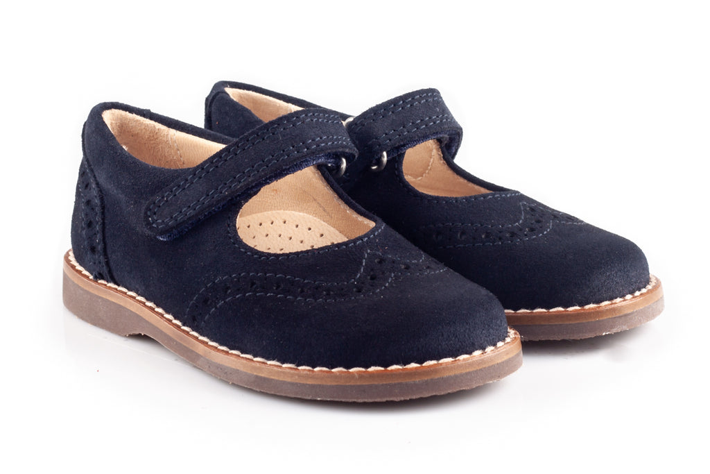 Navy Blue Suede School Shoes