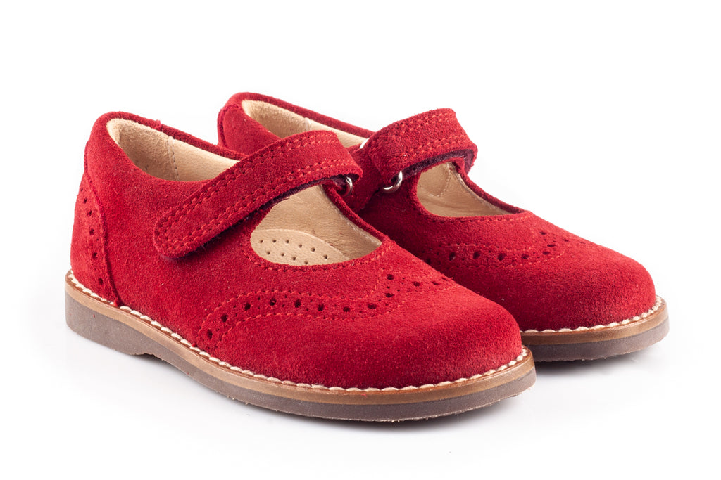 Scarlet Suede School Shoes