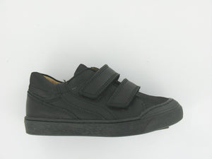 Black Leather 2 Strap Boys School Shoes