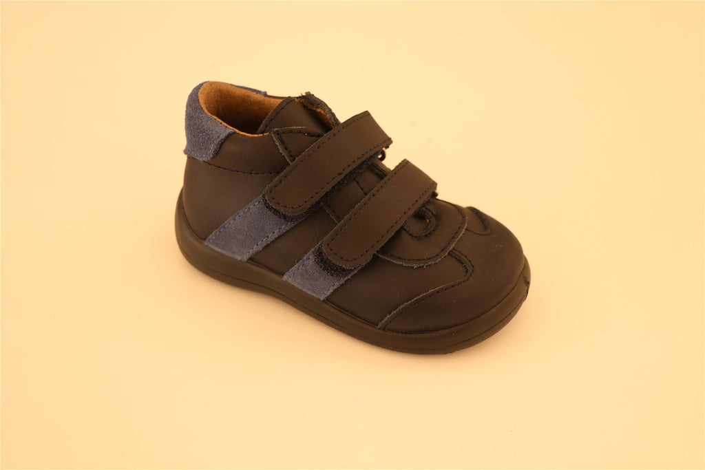 Blue Double Strip Little Boy shoes