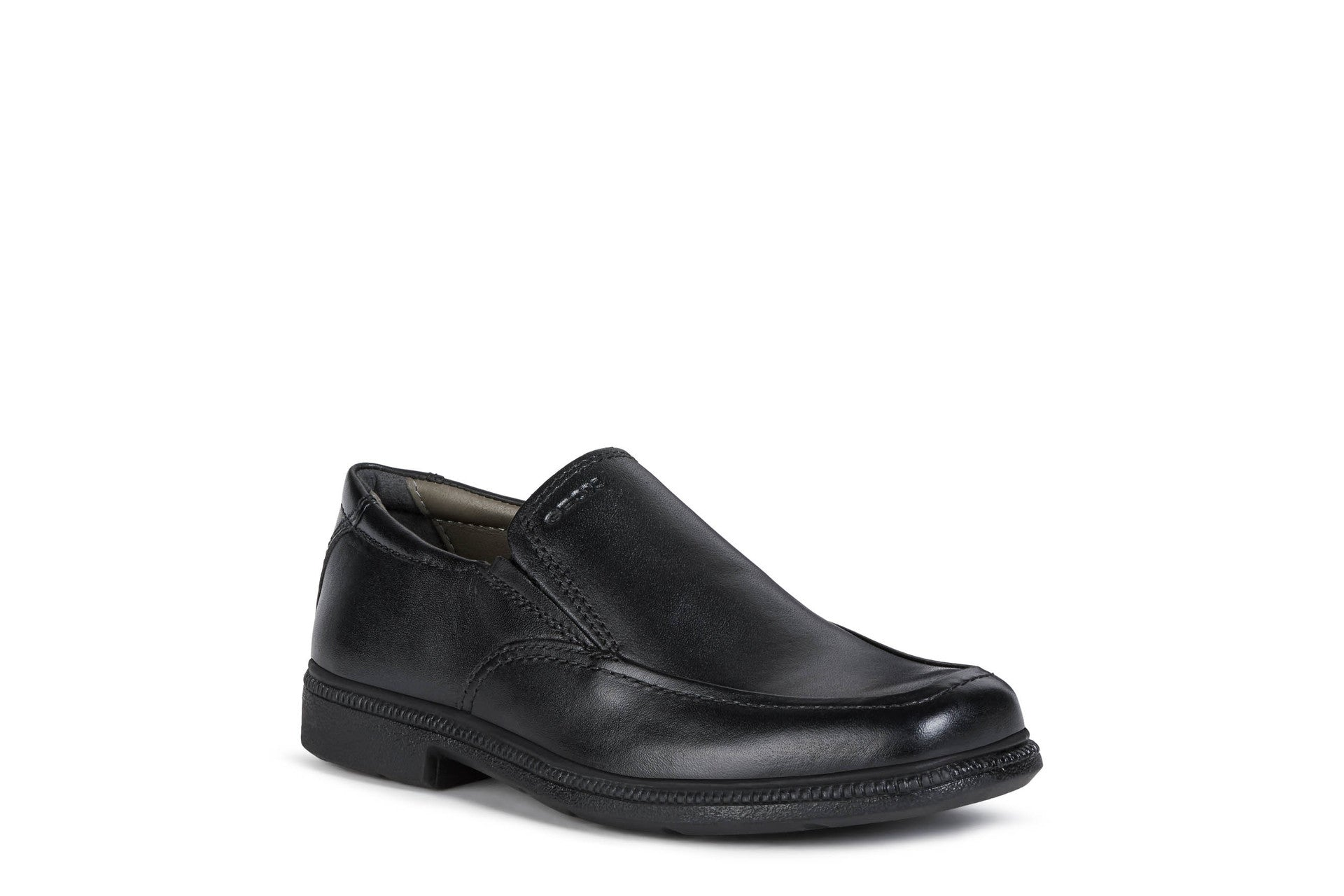 Black Leather Mens Slip Ins