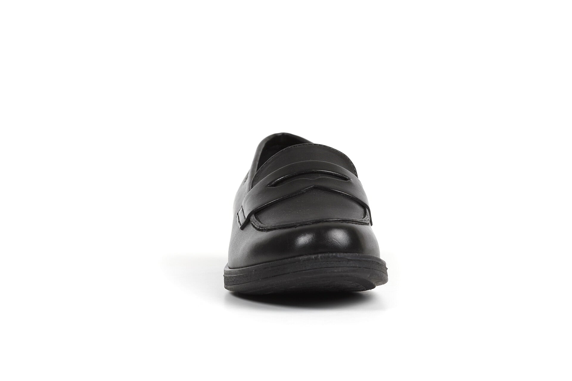 Black Women Classic Penny Loafer With Heal