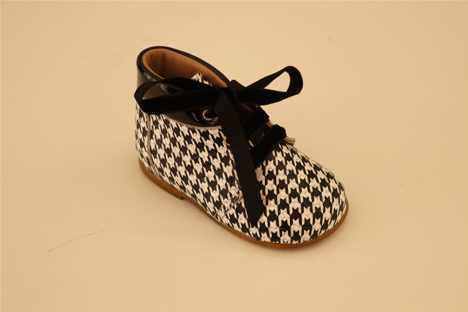 Houndstooth Black and white Booties
