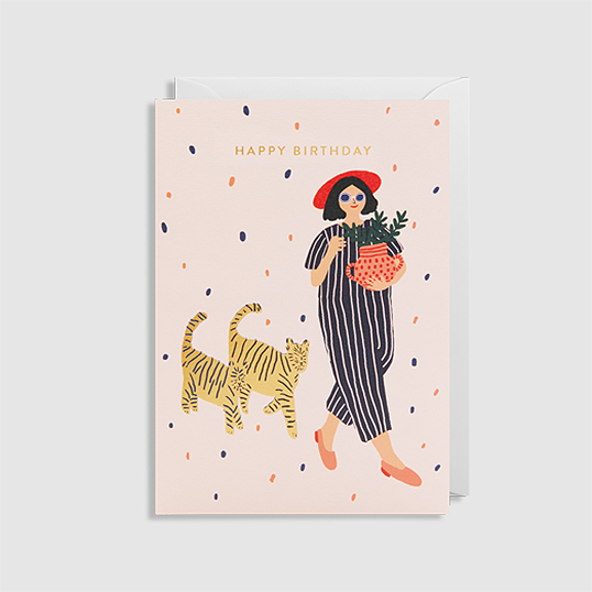 kartka • girl and cats