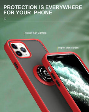 Shock Resistant iPhone Case With Ring Holder