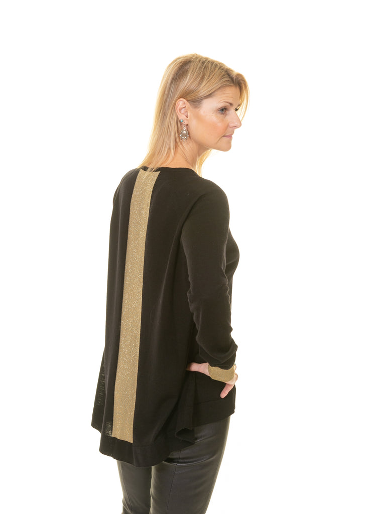 Merino Cardigan with Lurex Detail