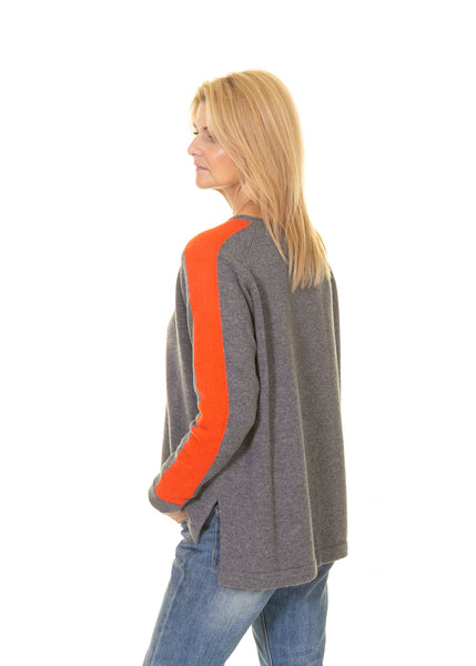 Jumper with Big Arm Stripe
