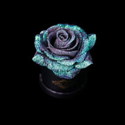 Mermaid Tail Glitter Roses - Black Micro Box (1 Rose)