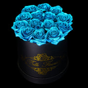 Blue Glitter Roses - Black Box