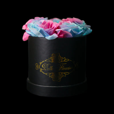 Bubblegum Glitter Roses - Black Box (5 Roses)