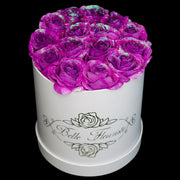 Unicorn Purple Glitter Roses - White Box