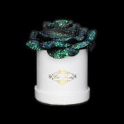 Mermaid Tail Glitter Roses - White Micro Box (1 Rose)
