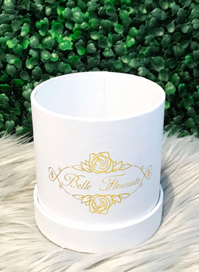 Custom Glitter Roses - White Box (3 Roses)