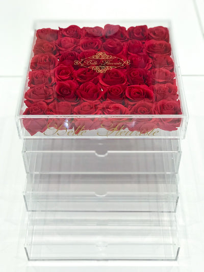 Large Red Cosmetic Box